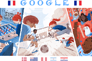 The Google Doodle on Thursday celebrates the football culture of Argentina and France during FIFA World Cup 2018.