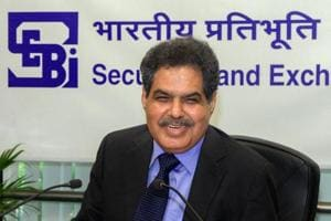 Securities and Exchange Board of India (SEBI) Chairman Ajay Tyagi addresses the media during a board meeting in Mumbai on Wednesday.