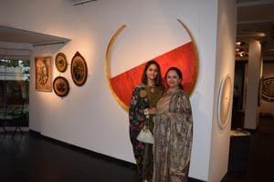 (LtoR) Sanjana Shah with her mother, gallerist Kalpana Shah.