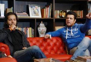 Sarod players Ayaan Ali Bangash and Amaan Ali Bangash at their residence inDelhi.