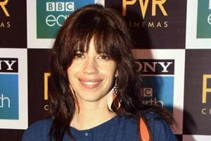 Kalki Koechlin at the first ever Blue Carpet theatrical screening in India of Blue Planet II by Sony BBC Earth.