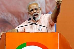 Prime Minister Narendra Modi addresses a rally in Bengaluru. The Modi-led government had recently said it had identified a set of 225,000 companies that have not filed returns since 2015-16.