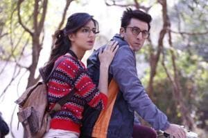 Ranbir Kapoor and Katrina Kaif in a still from Jagga Jasoos, a film by AnuragBasu, which picked up as many as three awards in the technical category at IIFA Rocks in Bangkok onFriday.