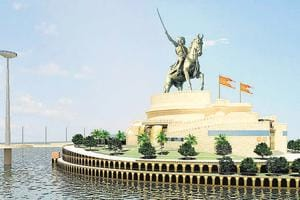 The project is to construct a memorial – an oval-shaped basalt rocky outcrop - in the form of an equestrian statue of Chhatrapati Shivaji Maharaj on a reclaimed island in the Arabian Sea in the Back Bay area.