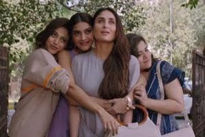 The Veeres - Sonam Kapoor, Swara Bhasker, Kareena Kapoor Khan and Shikha Talsania - in a still from Veere Di Wedding.