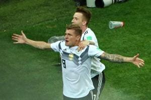 Toni Kroos scored a stunning 95th minute goal as Germany stayed alive in the FIFAWorld Cup 2018 with a 2-1 win over Sweden.