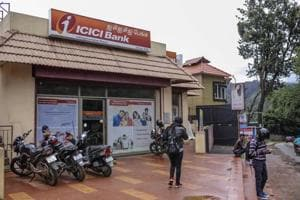An ICICI Bank Ltd. branch stands in Ooty, Tamil Nadu.