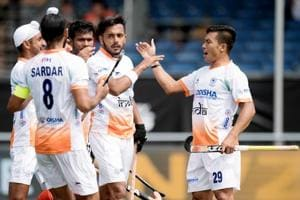 The India men's hockey team has secured wins over Pakistan and Argentina in the ongoing Champions Trophy.