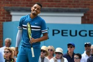 Nick Kyrgios lost to Marin Cilic in the semi-finals of Queen's Club Championships last week.