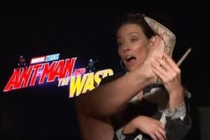 Evangeline Lilly had a hilarious reply about the discomfort of her suit.