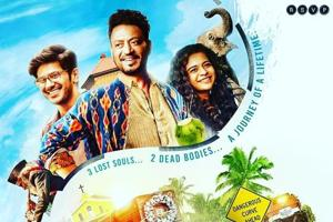 Where are Irrfan Khan, Dulquer Salmaan going with a coffin in Karwaan poster? See pic
