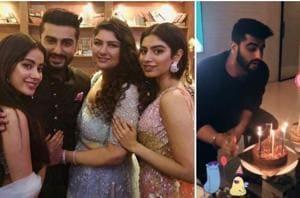 Arjun Kapoor is enjoying a loved-up birthday, thanks to his sisters Janhvi Kapoor, Sonam Kapoor and Anshula Kapoor.