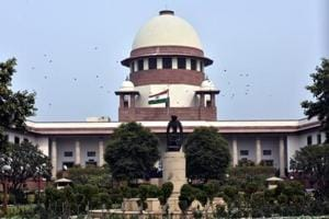 A view of Supreme Court building in New Delhi, India.