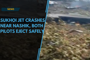Watch: Sukhoi fighter jet crashes near Nashik, both pilots eject safely