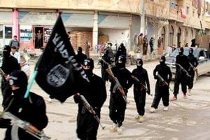 Islamic State fighters take out a march in Syria. Eleven Keralites who went missing from Dubai are believed to have joined the terror outfit.