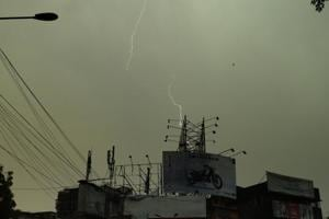 A scientist with the Madhya Pradesh MeT department said the electric circuit in a mobile phone could 'attract' a lightning strike.
