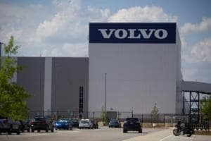 Volvo Cars US production plant is pictured in Ridgeville, South Carolina, US.
