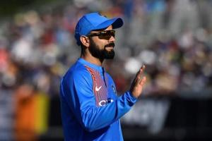 Virat Kohli, who needs only 17 runs to become the fastest to reach 2000 runs in T20Is, posted a picture of his outing with his teammates on Twitter on Thursday.