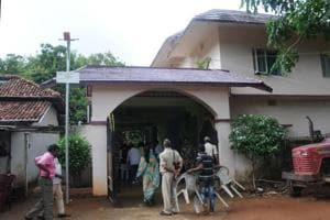 Residence of BJP Member of parliament (Khunti) Karia Munda from where his three police armed guards were abducted.