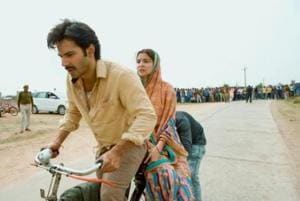 Varun Dhawan and Anushka Sharma as Mauji and Mamta in Yashraj Films' Sui Dhaaga.