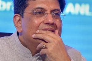 Union finance minister Piyush Goyal during a conference in New Delhi.