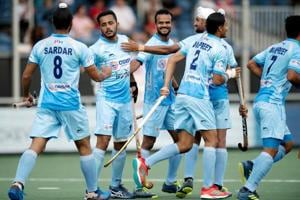 The Indian hockey team drew 1-1 against the Netherlands to enter the Champions Trophy final on Saturday. Get highlights of India vs Netherlands Champions Trophy hockey match here.