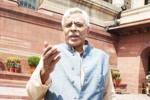 File photo of RJD  leader Shivanand Tiwari .