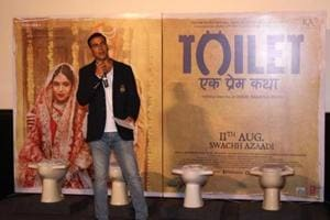 Actor Akshay Kumar during a promotional event for his movie 'Toilet: Ek Prem Katha' which released in 2017.