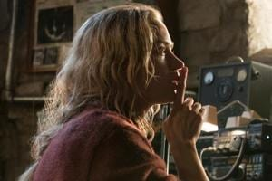 This image released by Paramount Pictures shows Emily Blunt in a scene from A Quiet Place.
