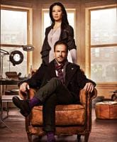 Jonny Lee Miller (Sherlock Holmes) and Lucy Liu (Joan Watson), stars of the serial, Elementary, set in New York.