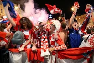 Ecstatic Croatia fans want team to play World Cup final