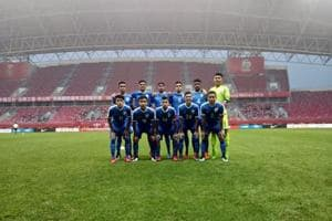 The India U-16 football team lost to China in a four-nation meet on Tuesday.