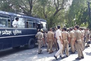 University officials told police that an agitation was on at the campus for past two or three days over demands related to admission.
