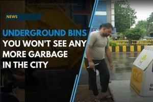 Surat installed underground garbage bins across the city