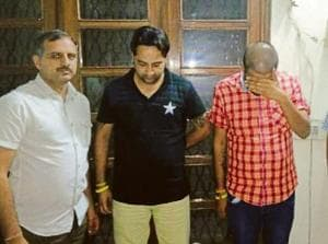 The accused in the custody  of directorate general of GST Intelligence on Wednesday.