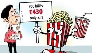 Food items sold in multiplexes have been found to be approximately 80% costlier than those sold outside.