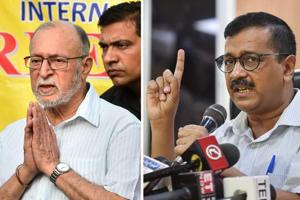 Lieutenant Governor of Delhi Anil Baijal and Delhi chief minister Arvind Kejriwal. The Supreme Court held that the L-G does not have independent decision-making powers, and is bound to act on the aid and advice of the Council of Ministers.