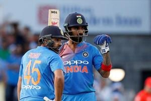 KL Rahul struck his second T20 hundred and first against England.