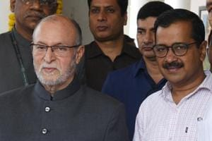 File photo of lieutenant governor of Delhi Anil Baijal (left) and chief minister Arvind Kejriwal.