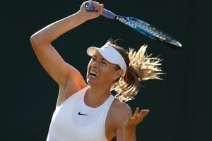 Maria Sharapova in action during the Wimbledon first round match against Vitalia Diatchenko on Tuesday.