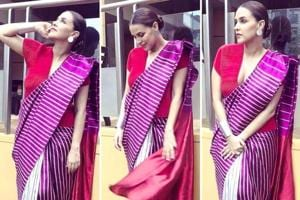 We cannot get over how bright Neha Dhupia's saree is. Check out alternatives to pastel-coloured sarees you'll be excited to wear. (Instagram)