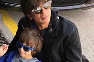 Shah Rukh Khan's son AbRam recreates iconic DDLJ scene- Watch the cute video
