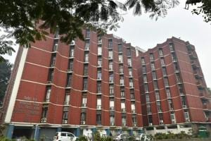 A general view of the Election Commission of India building in New Delhi.