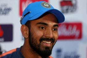 K.L. Rahul during the press conference ahead of the second T20 between India and England at Cardiff, Britain on July 5, 2018.