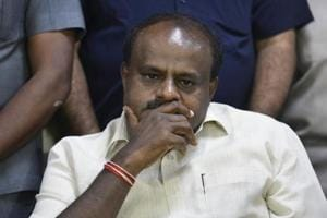 Karnataka chief minister H D Kumaraswamy presented his coalition government's first budget on Thursday.