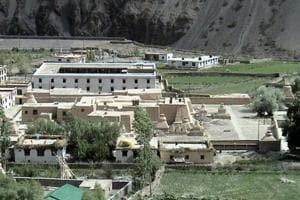 Tabo monastery in Lahaul and Spiti district is also known as the Ajantas of the Himalayas for its artworks and paintings.