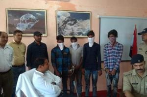 The four accused of trafficking children from Jharkhand to Uttarakhand.