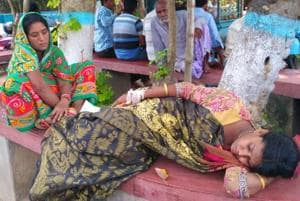 Locals rescued Sulekha Bibi in an unconscious state and rushed her to Hariharpara hospital after she jumped off the moving car.