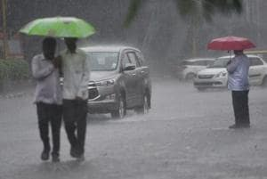 Mulund recorded the maximum rainfall in the city at 80.8mm, the weather bureau said.
