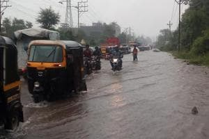The Kalyan-Badlapur highway was closed to traffic because of water-logging onSaturday.